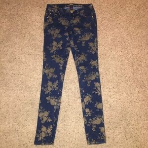 Almost Famous floral jeans!!